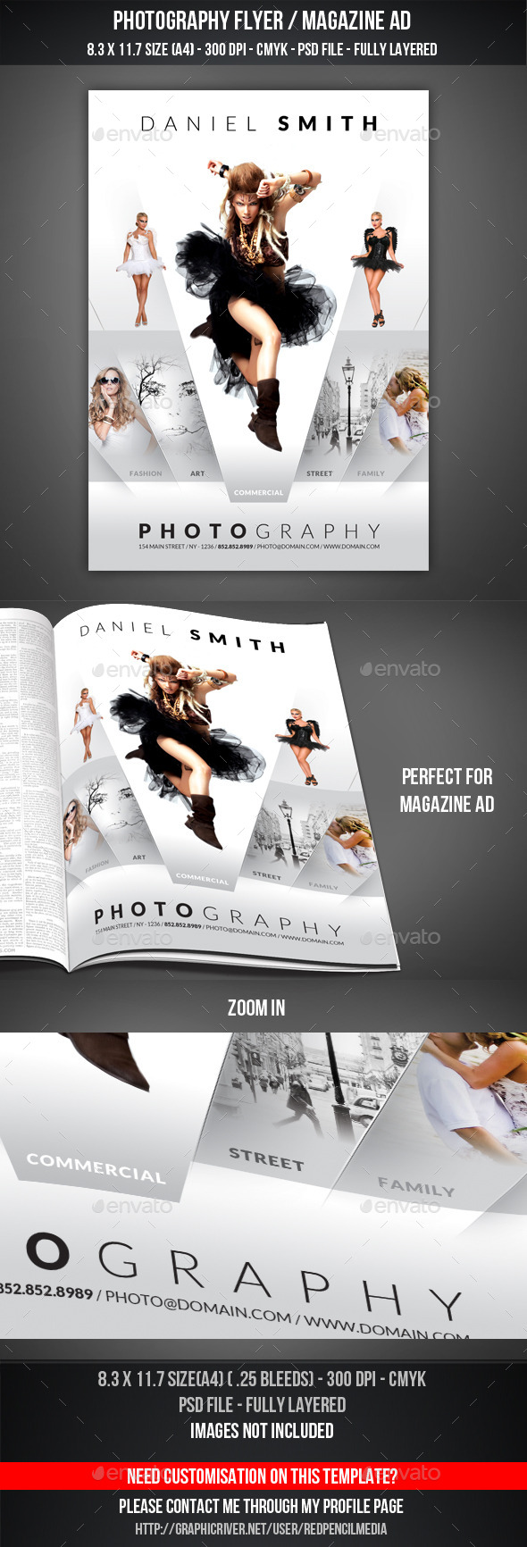GraphicRiver Photography Flyer Magazine AD 11156574