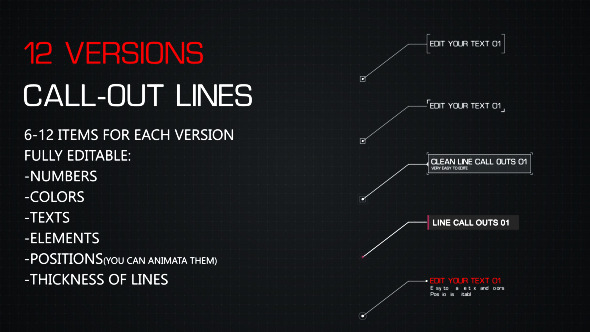 12 Line Call-Outs Pack (Infographics)