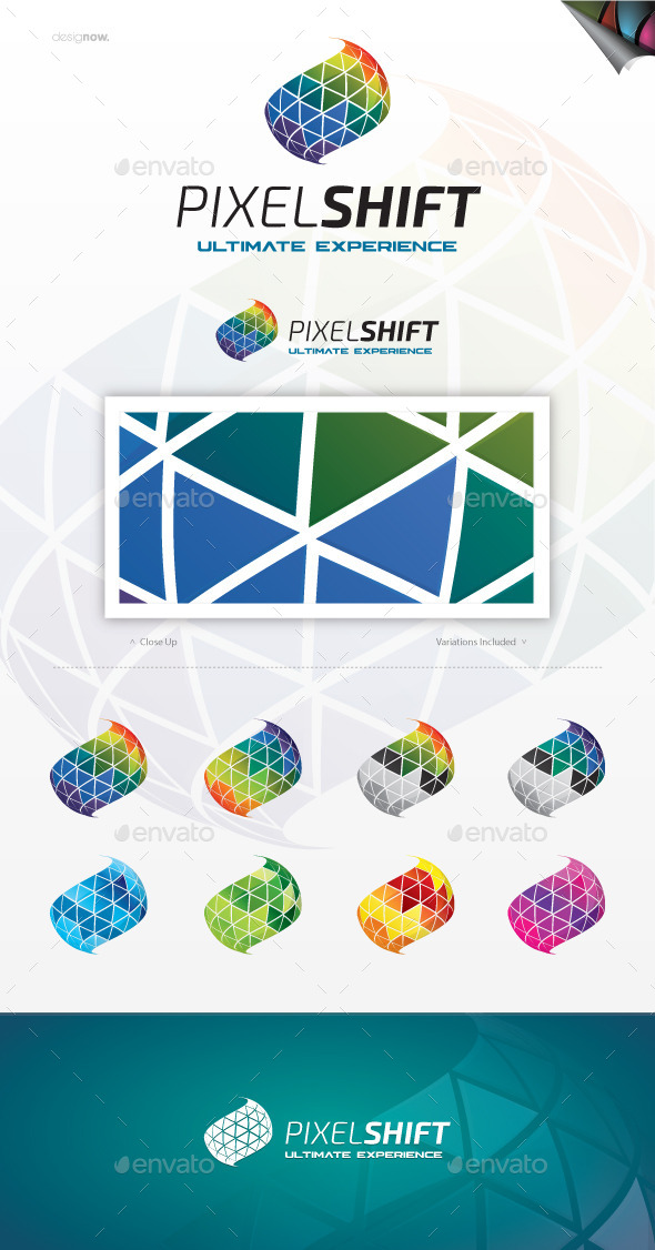 GraphicRiver Pixel Shift Logo 11156804