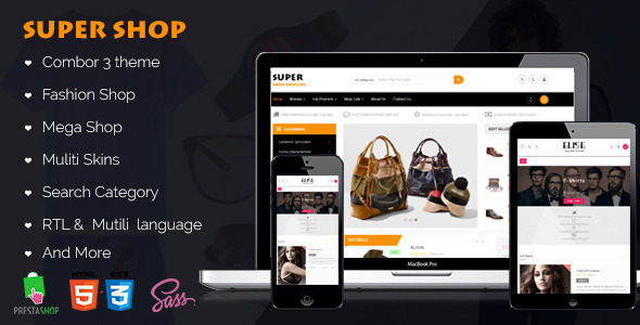 ThemeForest Vela Super Shop Responsive Prestashop Themes 11123944