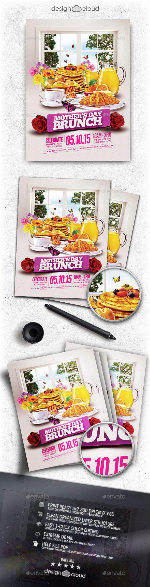 GraphicRiver Mother s Day Brunch Flyer Template 11101222