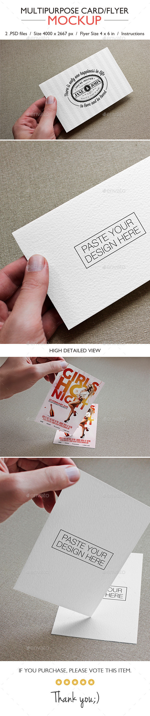 GraphicRiver Multipurpose Card Flyer Mockup 11130028