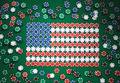 American flag composed of chips - PhotoDune Item for Sale