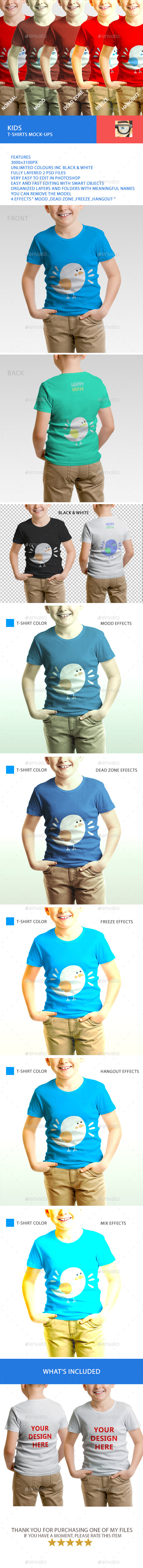 GraphicRiver Kids T-Shirts Mock-Ups 11145091