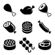 Meat Icons Set - GraphicRiver Item for Sale