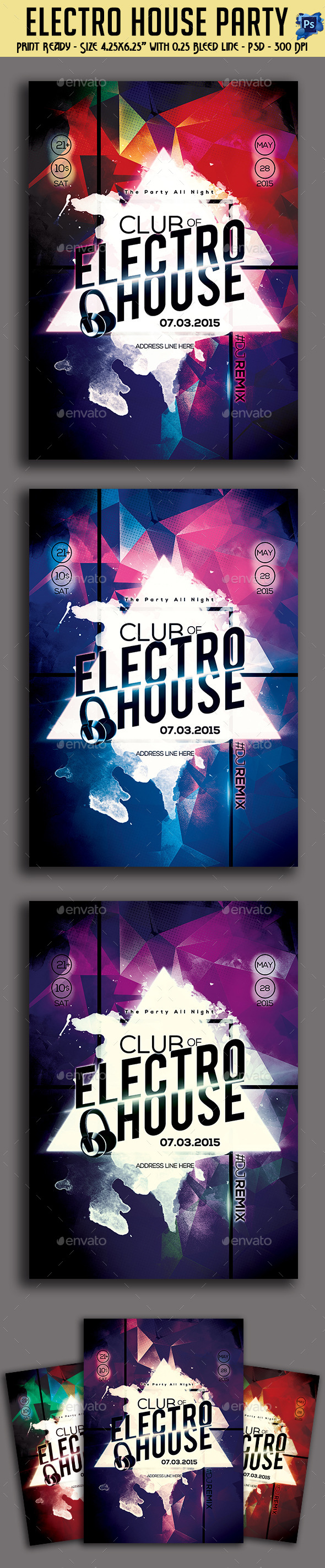 GraphicRiver Electro House Party Flyer 11157844