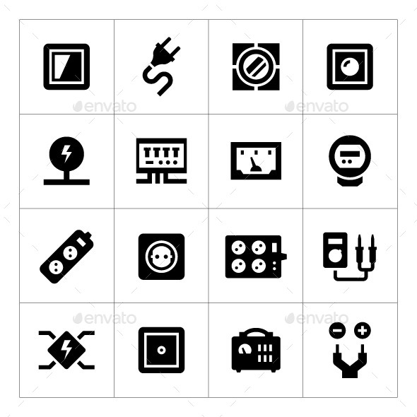 GraphicRiver Set Icons of Electricity 11157846