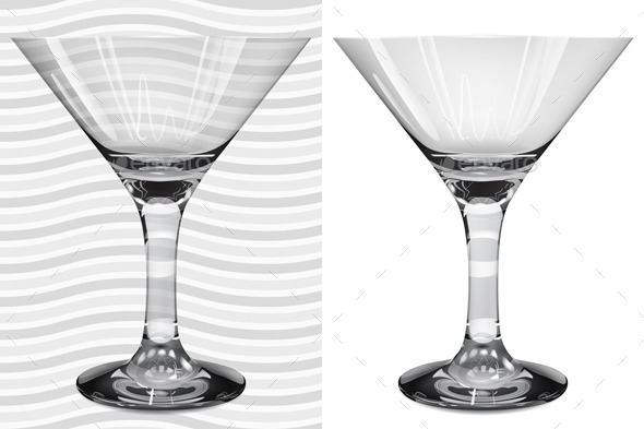 GraphicRiver Transparent And Opaque Realistic Martini Glasses 11157899