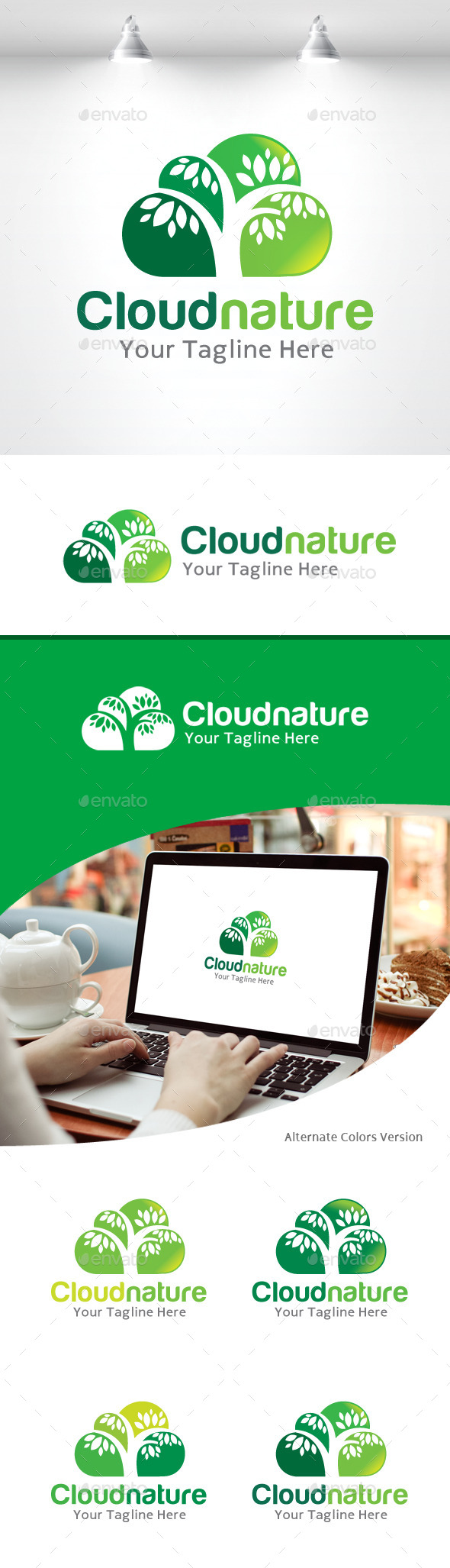 GraphicRiver Cloud Nature Logo 11157924
