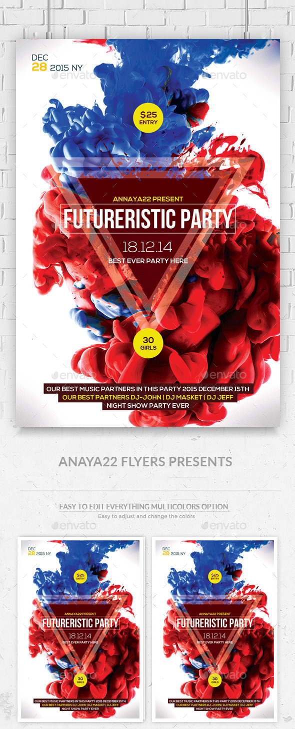 GraphicRiver Futuristic Flyer Templates 11157930
