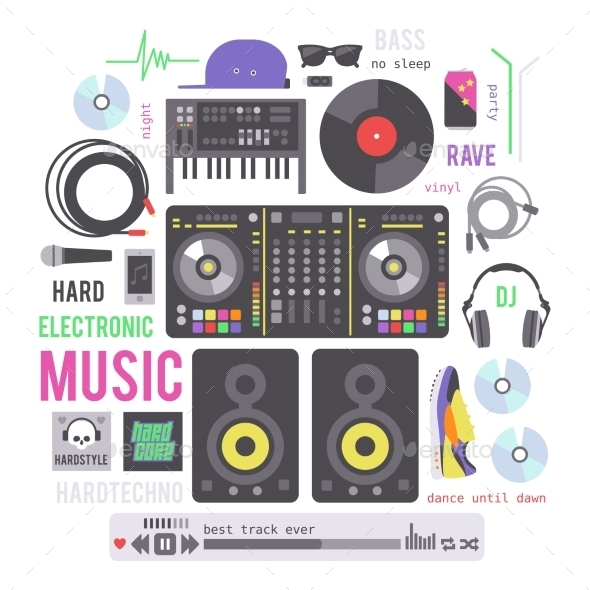GraphicRiver Electronic Musical Devices 11158220
