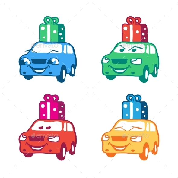 GraphicRiver Cartoon Cars 11158221