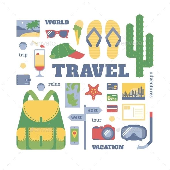 GraphicRiver Travel Set 11158245