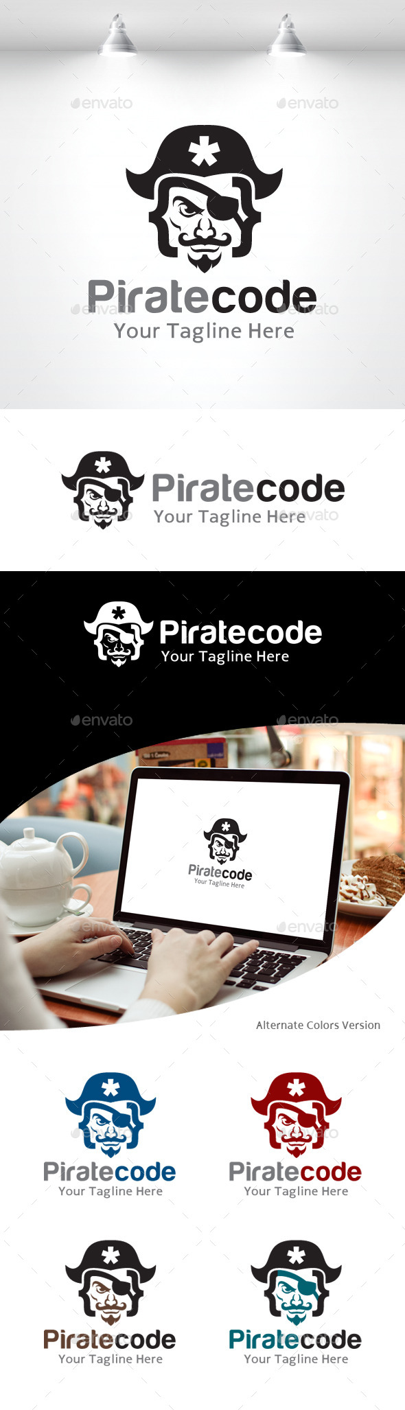GraphicRiver Pirate Code Logo 11158251