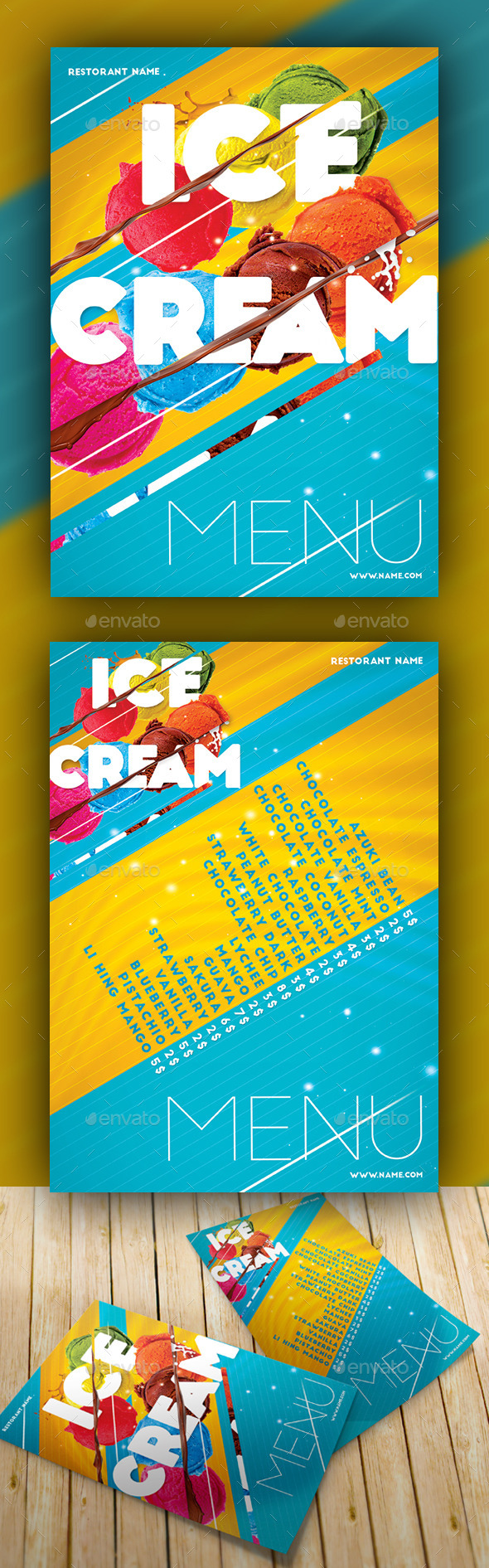 GraphicRiver Ice Cream Menu Cut 11158252