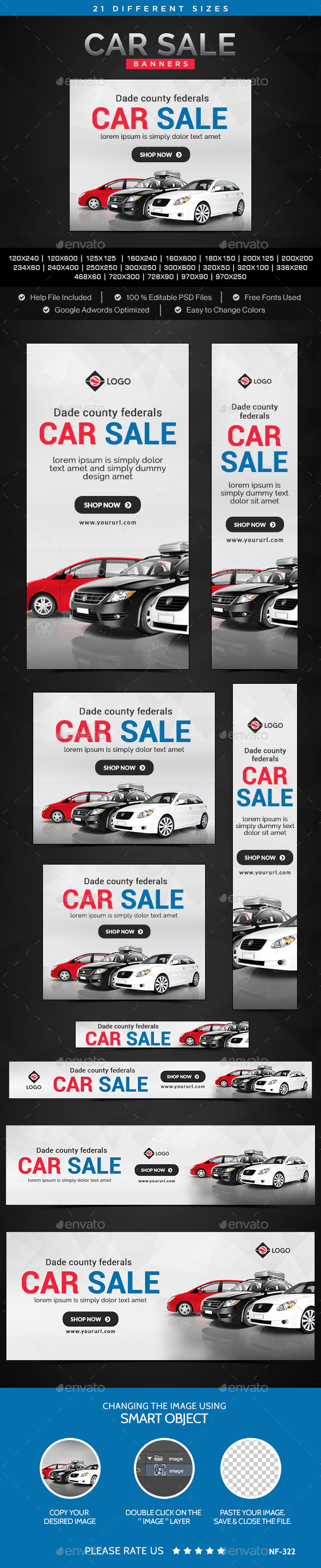 GraphicRiver Car Sale Banners 11158297