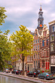Amsterdam canal, Westerker and typical houses, Holland, Netherlands. - PhotoDune Item for Sale