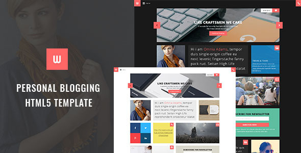 ThemeForest WOW Personal Blogger HTML5 Template 11158420