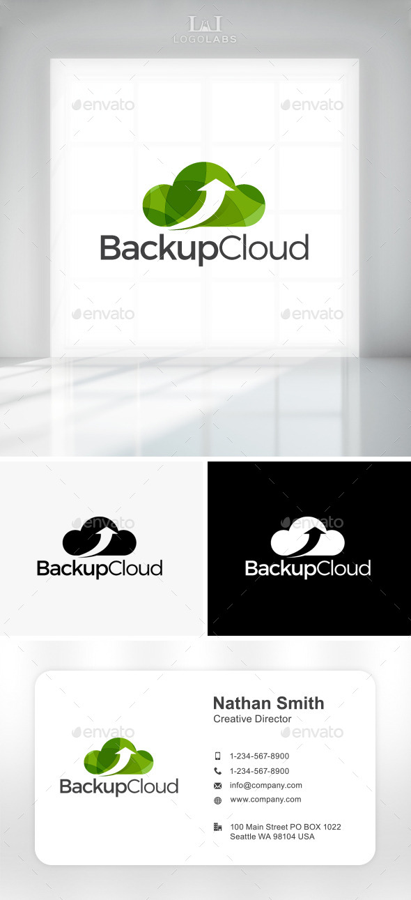 GraphicRiver Backup Cloud Logo 11158535