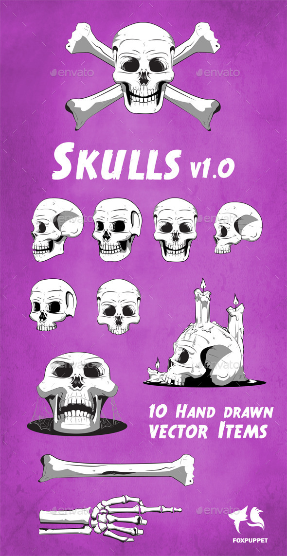 GraphicRiver Skulls Collection 11148141
