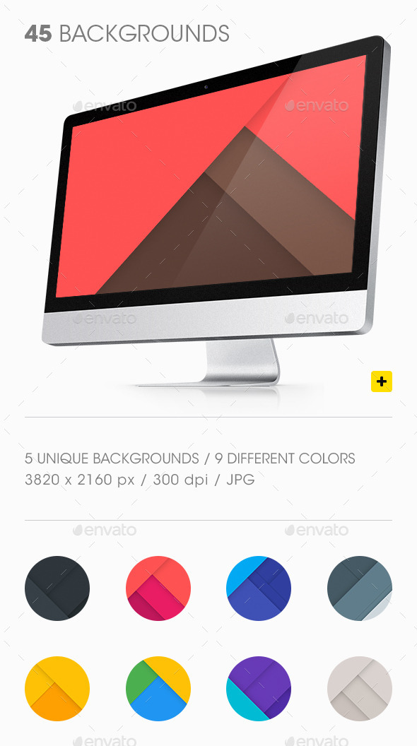 GraphicRiver Material Design Backgrounds 11158730