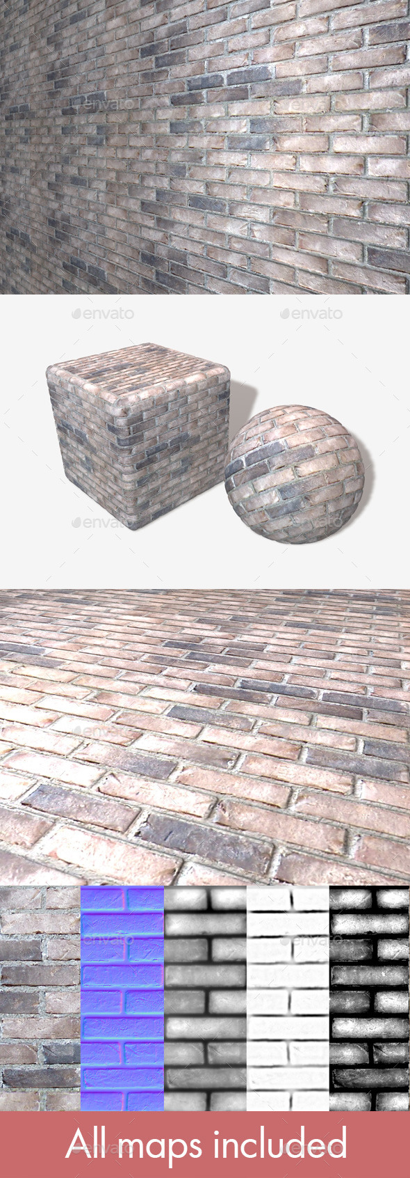 3DOcean Whitewash Bricks Seamless Texture 11158760