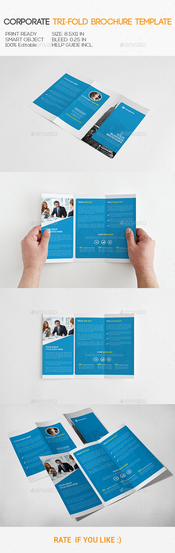GraphicRiver Corporate Trifold Brochure 11158858