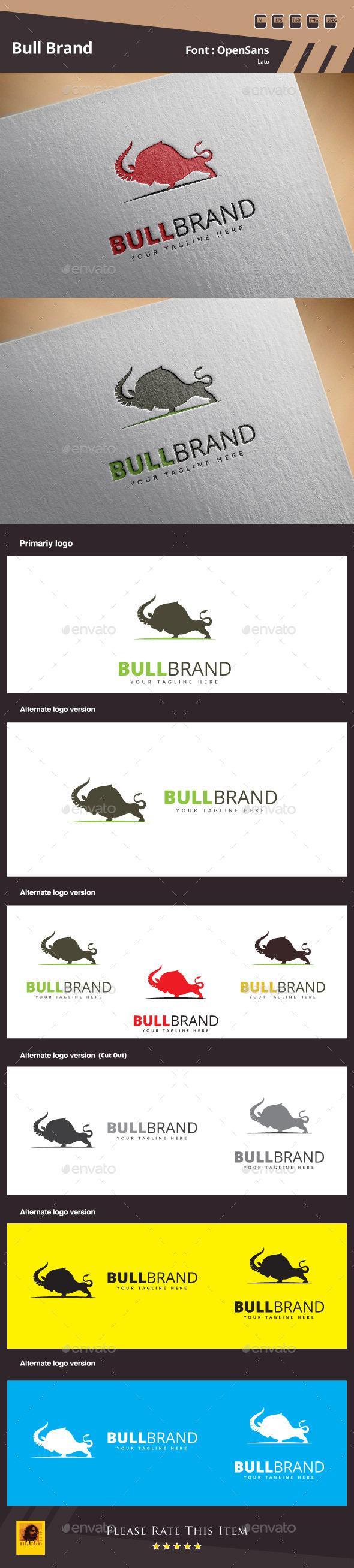 GraphicRiver Bull Brand Logo Template 11158863