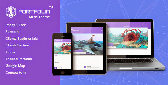 Portfolia - Muse Theme - Creative Muse Templates
