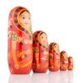 Five red Babushka - PhotoDune Item for Sale