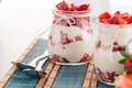 Strawberries desert with cream - PhotoDune Item for Sale