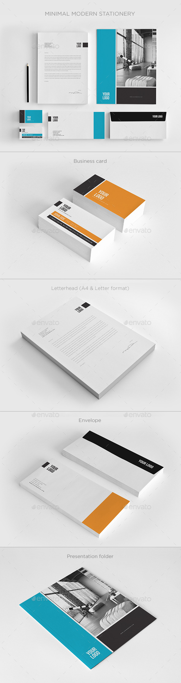 GraphicRiver Minimal Modern Stationery 11158986
