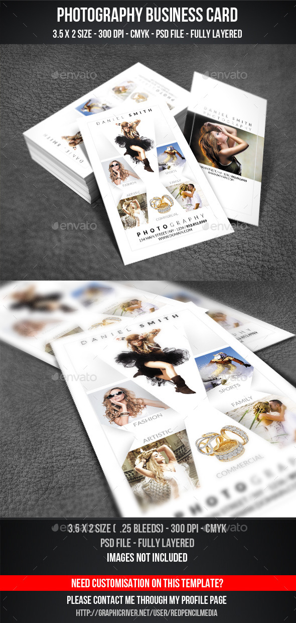 GraphicRiver Photography Business Card 11158989