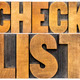 checklist word typography - PhotoDune Item for Sale