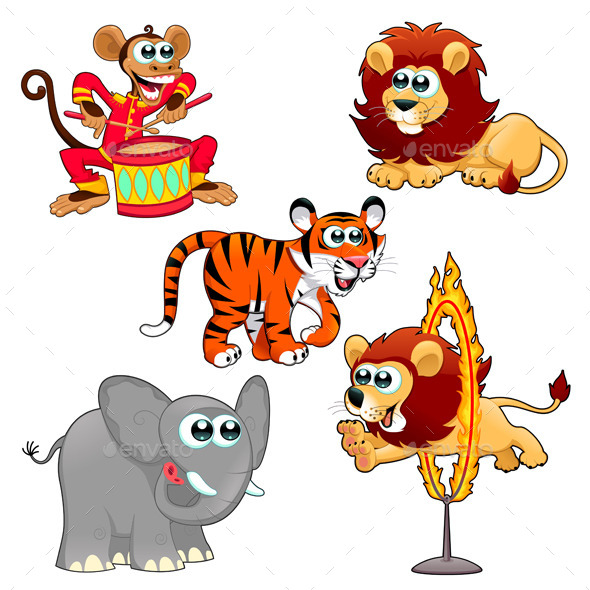 GraphicRiver Circus Animals 11159161