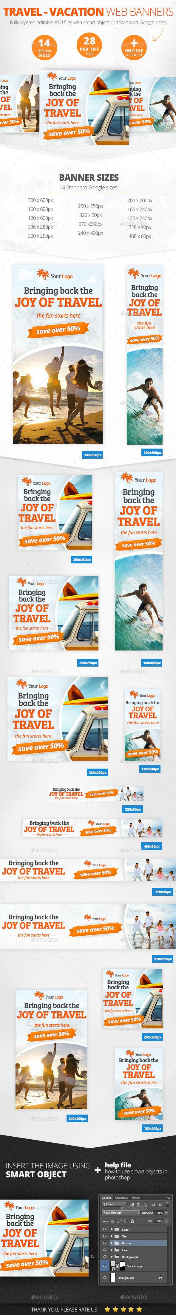 GraphicRiver Travel Vacation Web Banners 11159220