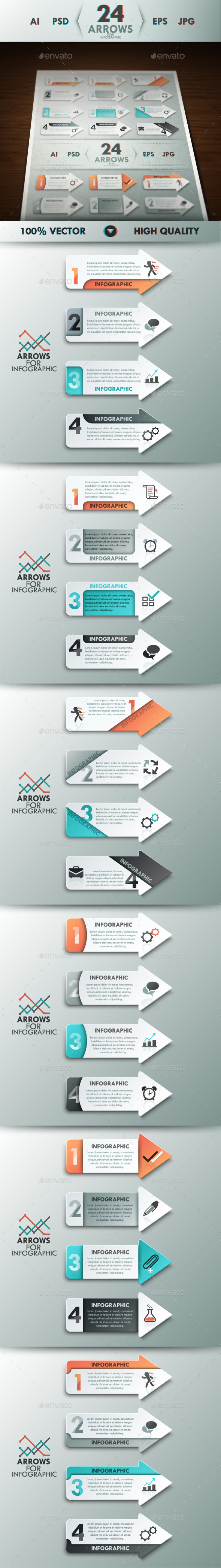 GraphicRiver Infographic Arrows Set 11159231
