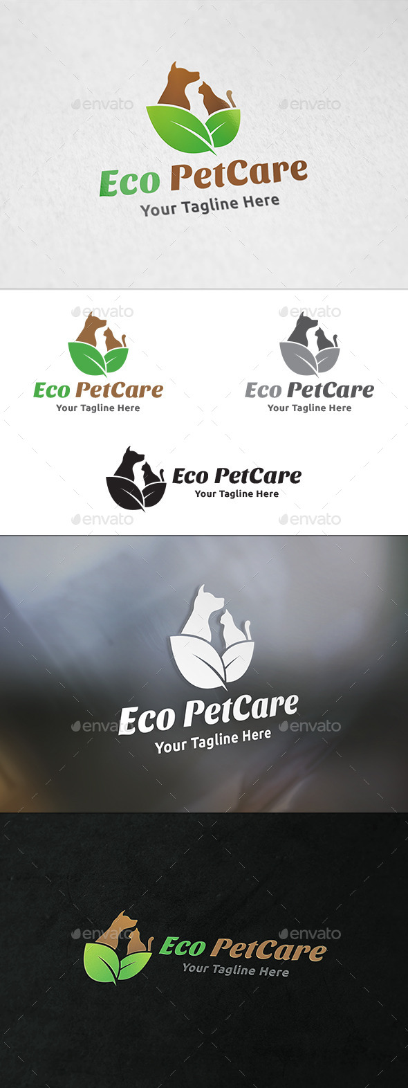 GraphicRiver Eco Pet Care Logo Template 11159265