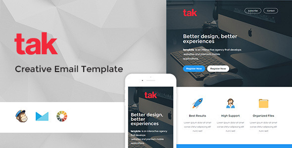 ThemeForest Tak Modern Email Template & Online Access 11159456