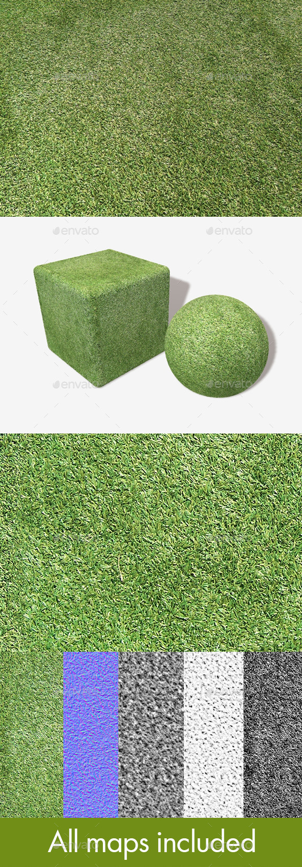 Astroturf Seamless Texture - 3DOcean Item for Sale