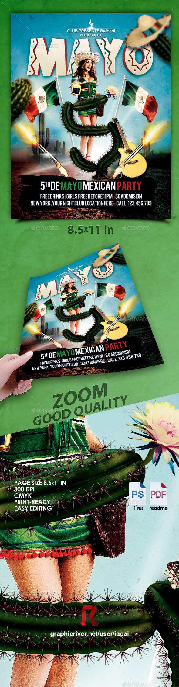 GraphicRiver 5 de mayo Flyer Poster Template 11159903