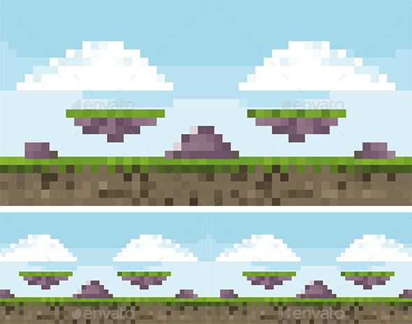 Pixel Art Game Background | GraphicRiver