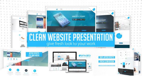 AE模板:清新 简洁 企业公司网站推广 宣传介绍 网站开发设计模板