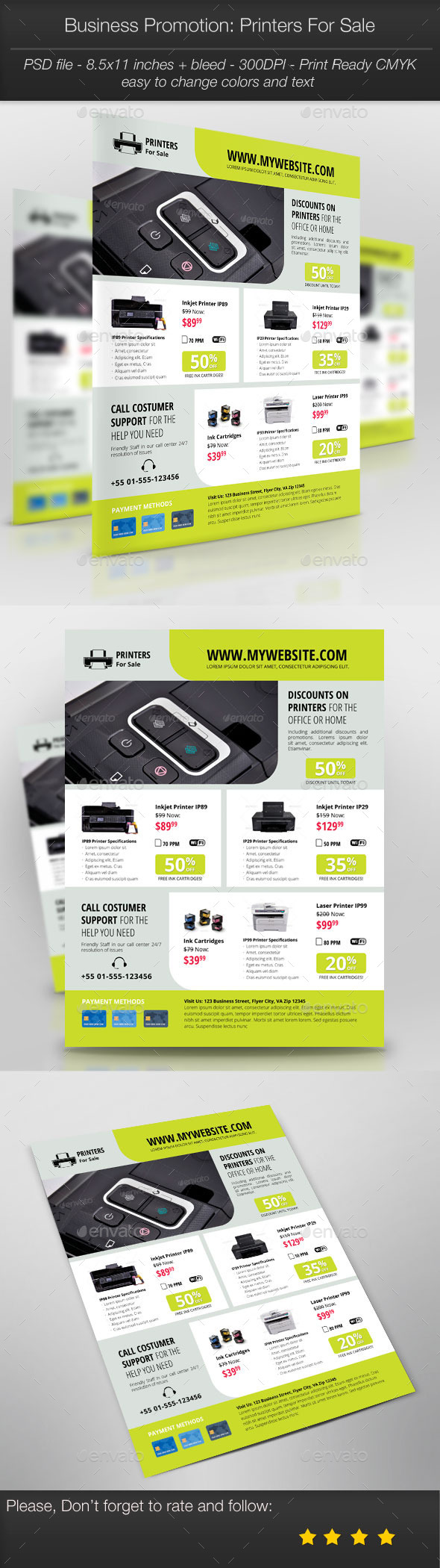 GraphicRiver Business Promotion Printers For Sale 11160731