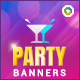 Party Banners - GraphicRiver Item for Sale