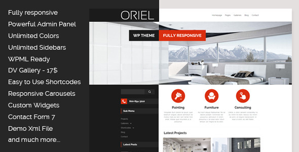ORIEL - Responsive Interior Design WordPress Theme