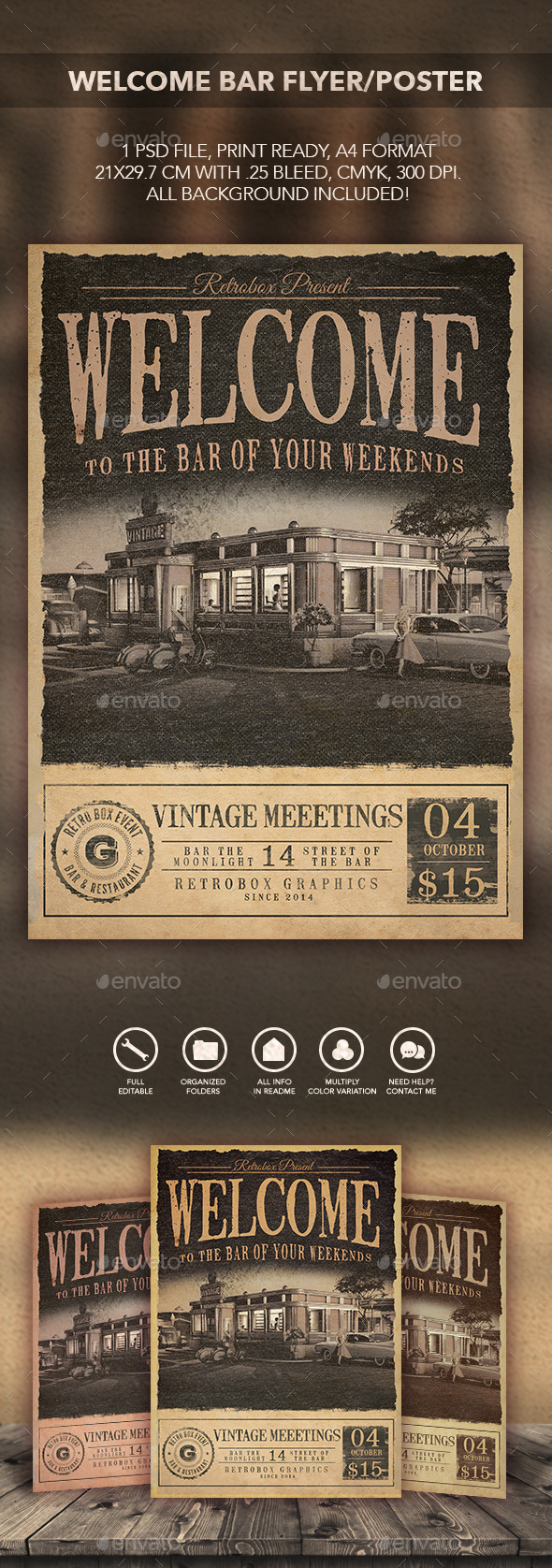 GraphicRiver Welcome Bar Flyer Poster 11160908