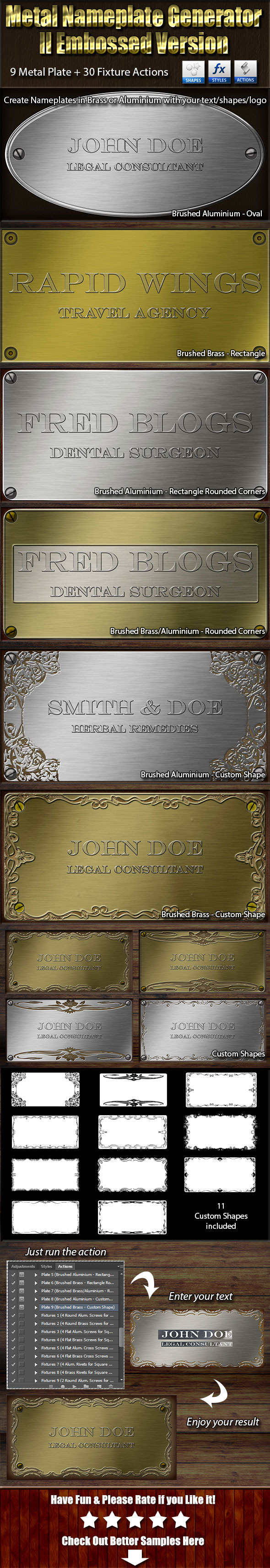 GraphicRiver Metal Nameplate Generator II Embossed Version 11160971