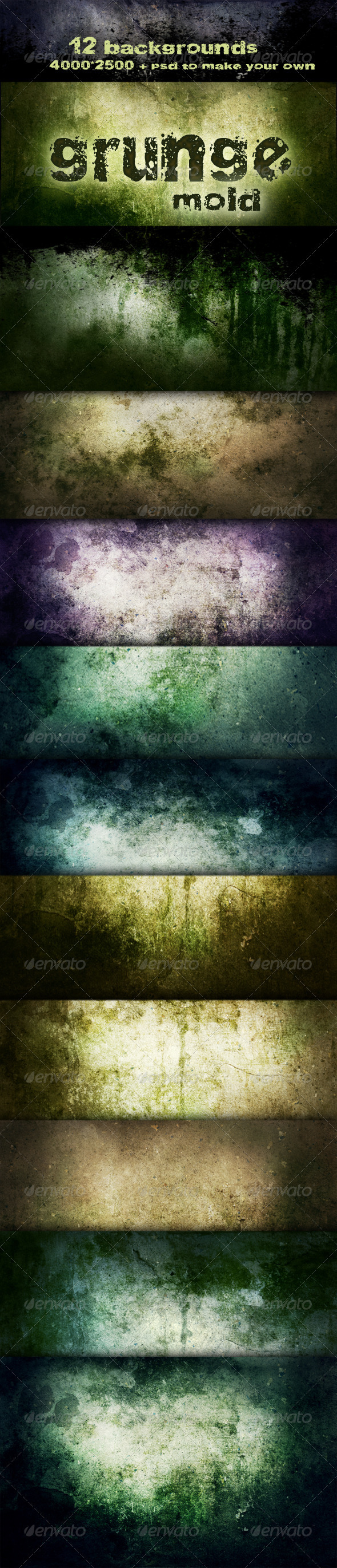 GraphicRiver Grunge backgrounds Mold decay 1119746