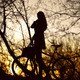 Woman With Bike Silhouette - PhotoDune Item for Sale